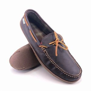 L.L. Bean Flannel-Lined Handsewn Slippers 13M